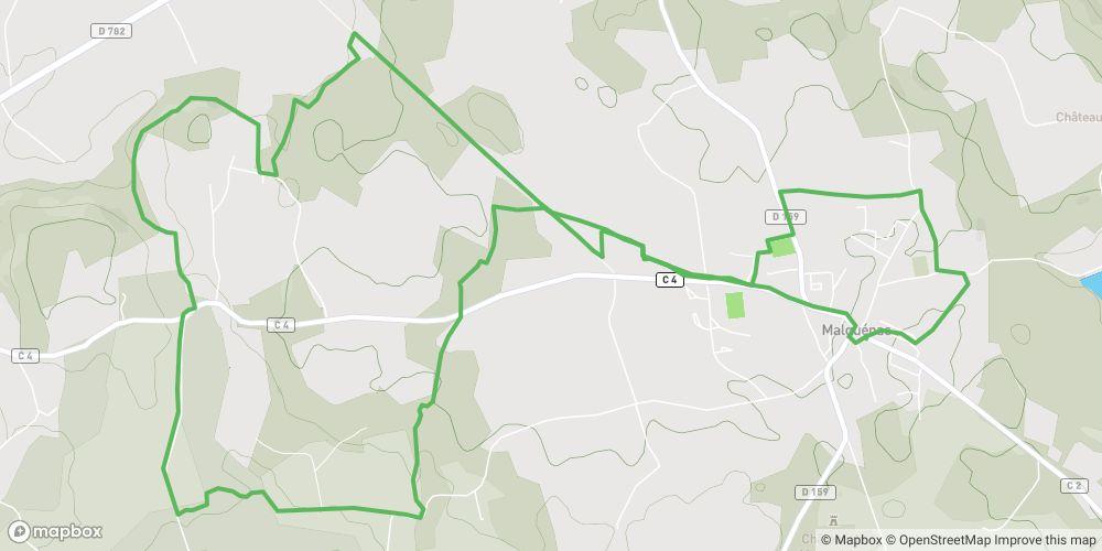 Circuit de la voie romaine et de l'allée couverte