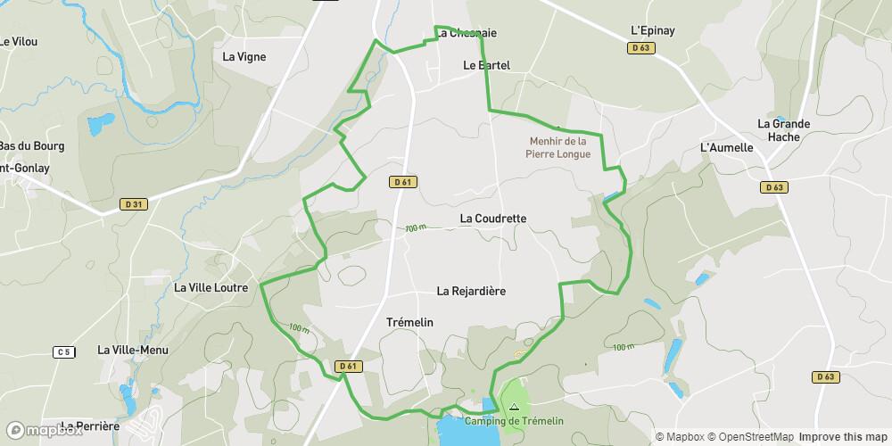 Circuit de la Pierre Longue à Iffendic