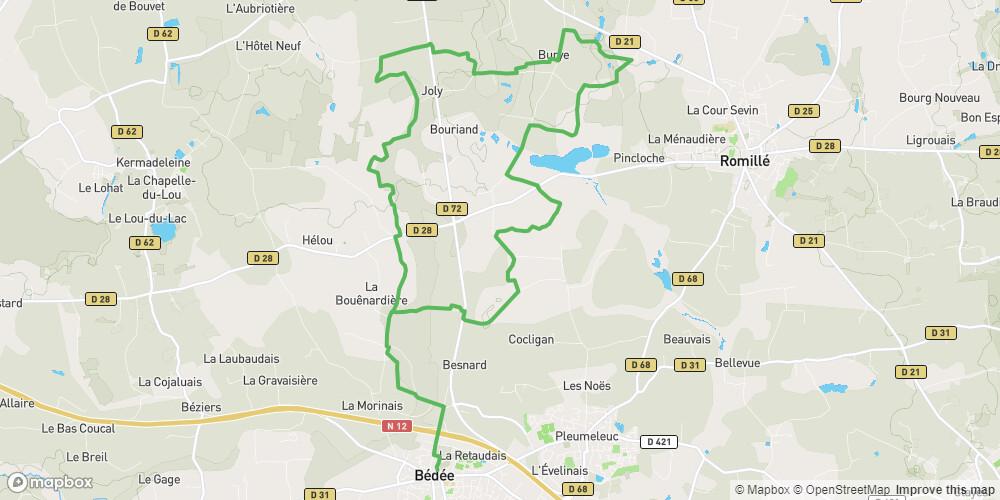 Circuit Saint-Urbain à Bédée