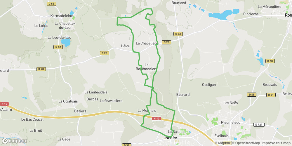 Circuit nord à Bédée