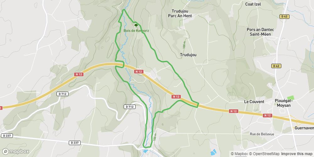 Vers le Pont de Kéribot -Le Ponthou