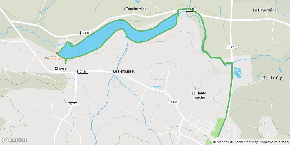 La Bouëxière : L'étang de Chevré