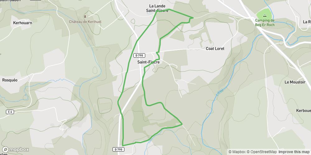 Circuit de Saint-Fiacre à Le Faouët