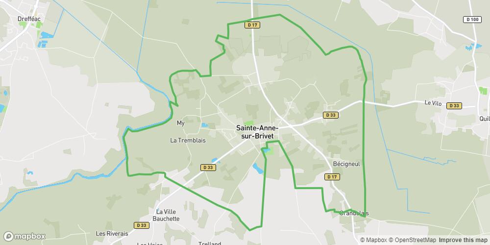 Circuit des Marais Ste Anne sur Brivet