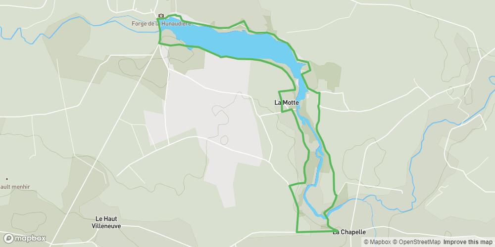 Tour de l'étang de la Hunaudière