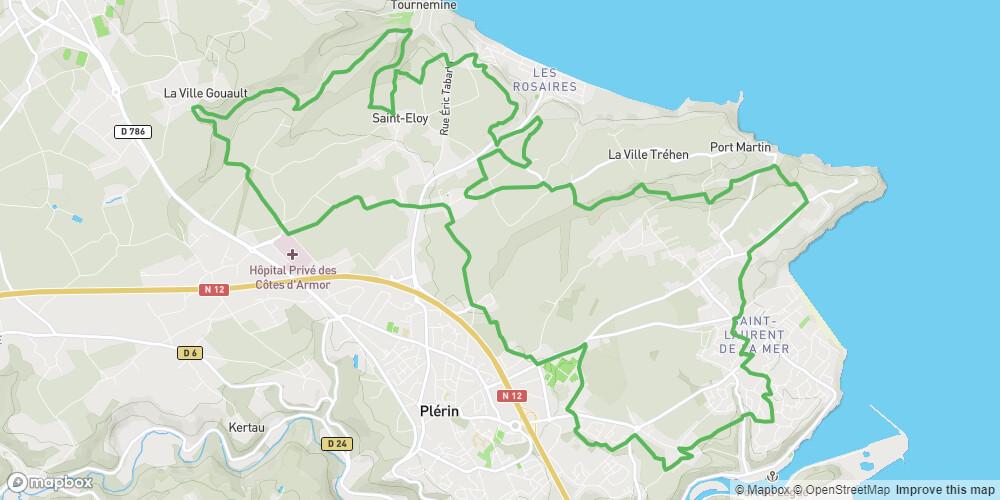 Circuit VTT N° 14 - Plérin - Rouge