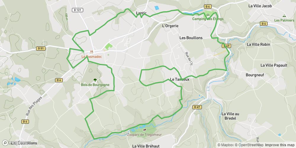 Circuit de la Vallée de l'Ic - Station VTT Côte du Goëlo n°2 bleu