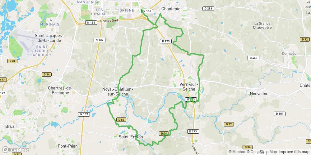 Circuit VTT en Pays de Rennes n°17: Vallée de la Seiche