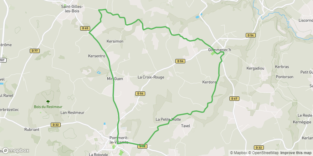 Balade Glazik - boucle vélo