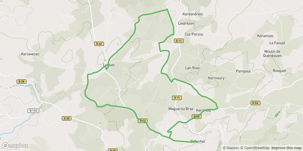Circuit vélo Calanhel, Lohuec