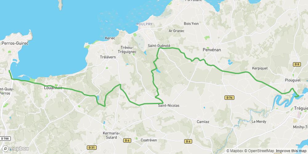 Le Tour de Manche - Etape 1 - De Tréguier à Perros-Guirec