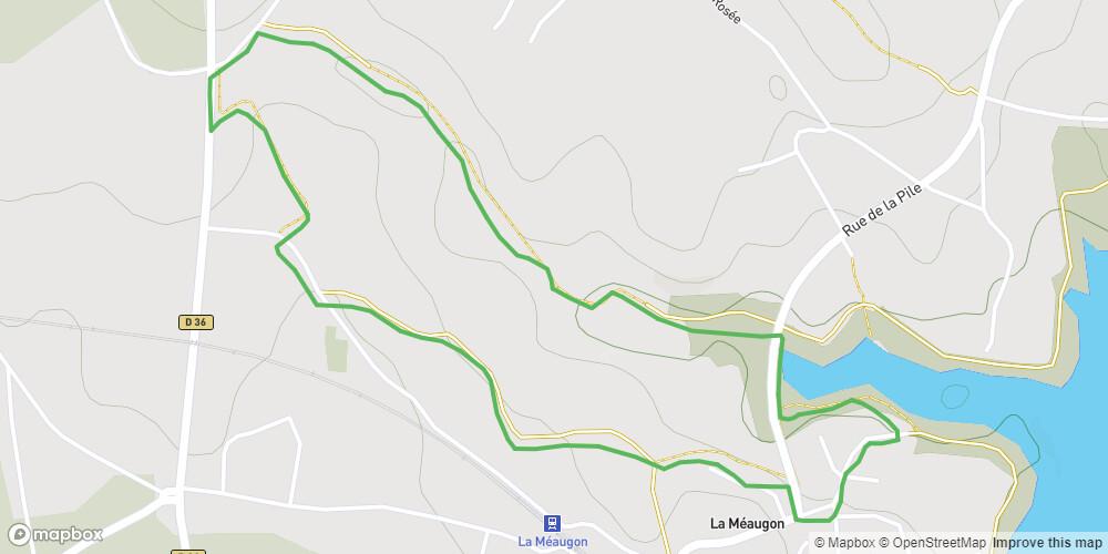 Le circuit du barrage - variante de la vallée de la Salle
