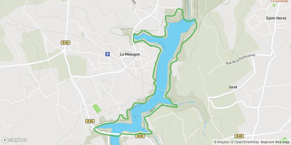 Le circuit du barrage de la Méaugon