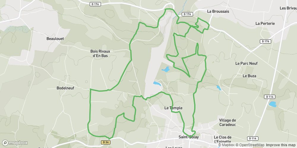 St Dolay: Circuit 9 du Site VTT-FFC La Roche-Bernard