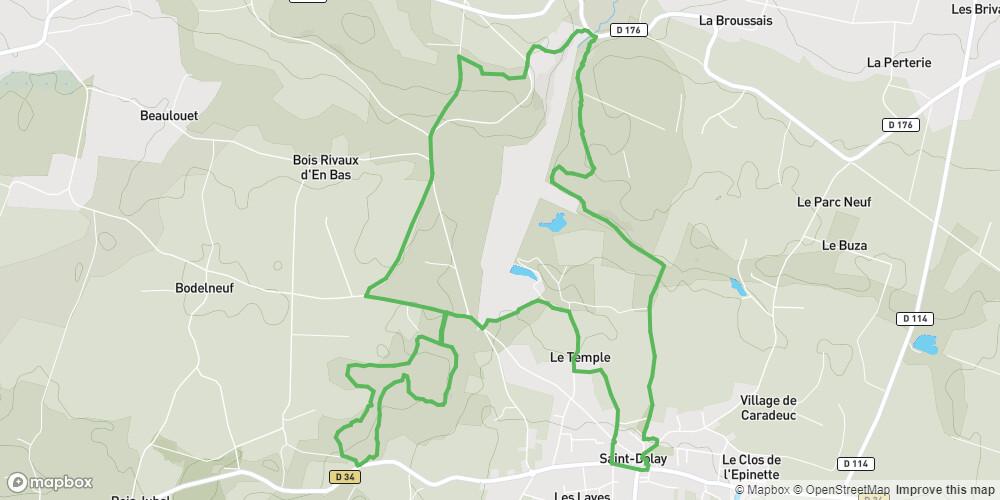 Saint-Dolay: Circuit de Buttes en Marais