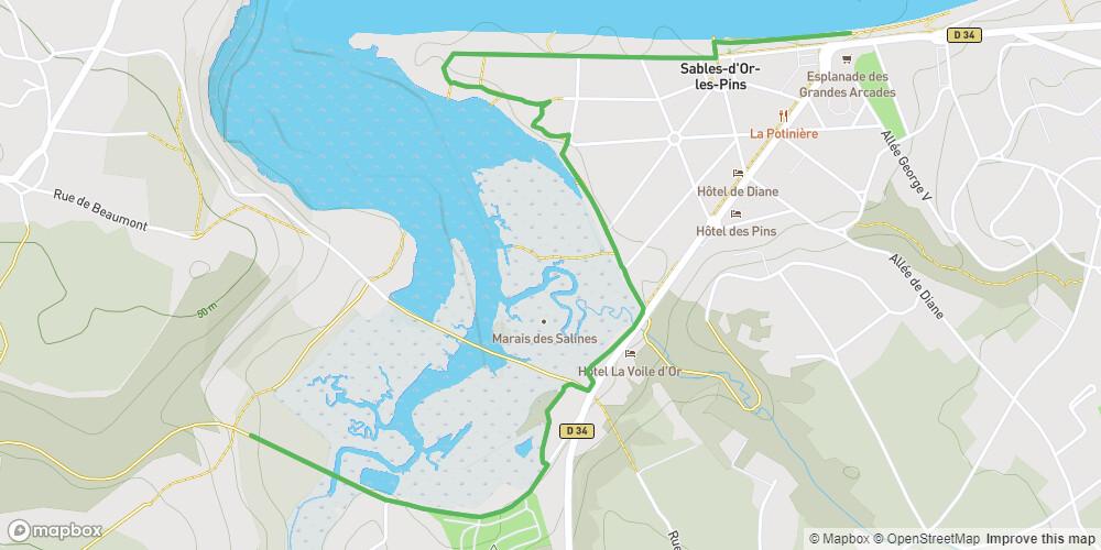 Balade de l'estuaire de l'Islet à Sables-d'Or-les-Pins