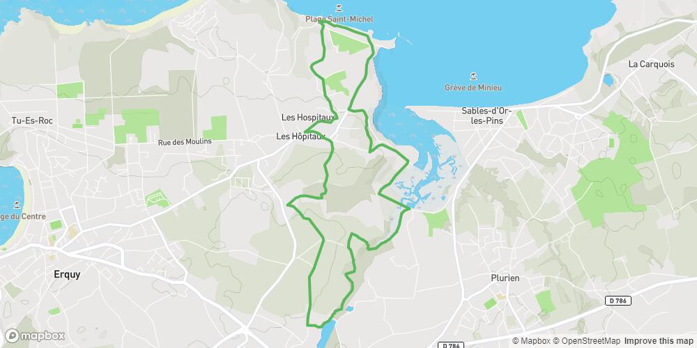 Circuit de l'îlot Saint-Michel - Erquy