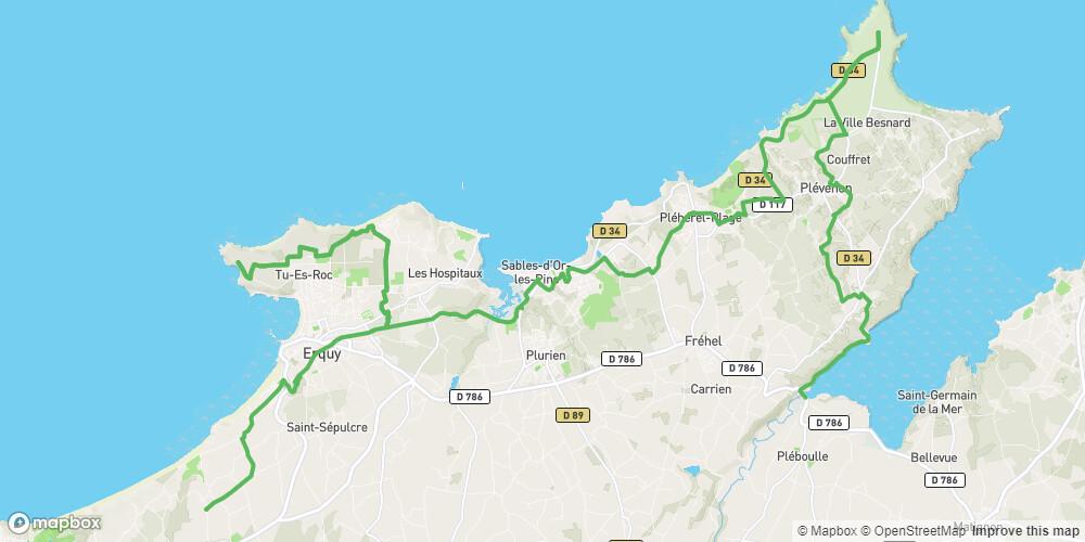 La Véloroute Littorale EV4 sur le Grand Site Cap d'Erquy - Cap Fréhel